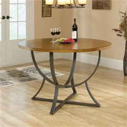 Pemberly Row Round Dining Table in Pecan