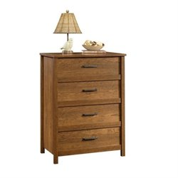 Pemberly Row 4 Drawer Chest in Milled Cherry