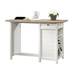 Pemberly Row Work Table in Soft White