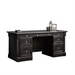 Pemberly Row Executive Desk in Wind Oak