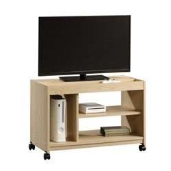 Pemberly Row TV Cart in Urban Ash