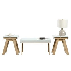 Pemberly Row 3 Piece Coffee Table Set in Urban Ash