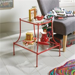 Pemberly Row End Table in Red