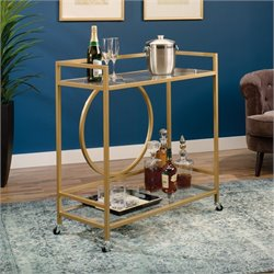 Pemberly Row Bar Cart in Satin Gold