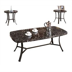 Pemberly Row 3 Piece Coffee Table Set in Black
