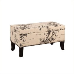 Pemberly Row Linen Ottoman in Botanical