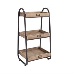 Pemberly Row 3 Shelf Towel Rack in Black