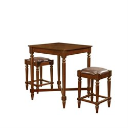Pemberly Row 3 Piece Pub Set in Walnut