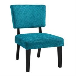 Pemberly Row Accent Chair in Teal Blue