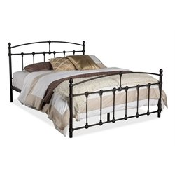 Pemberly Row Full Metal Spindle Bed in Dark Bronze