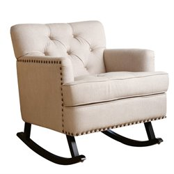 Pemberly Row Linen Rocker in Beige