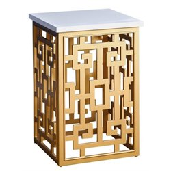 Pemberly Row Square End Table in Gold
