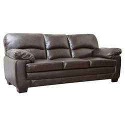 Pemberly Row Leather Sofa in Dark Brown