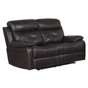 Pemberly Row Power Reclining Loveseat in Brown