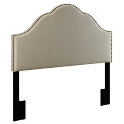 MER-1396 Upholstered Panel Headboard in Oatmeal White