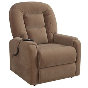 Pemberly Row Lift Recliner in Raider Mocha Brown