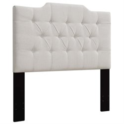 MER-1396 Upholstered Panel Headboard in White 8