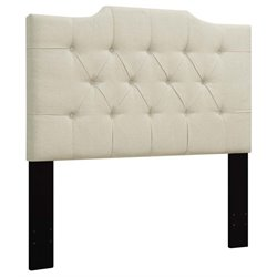 MER-1396 Upholstered Panel Headboard in Beige 1