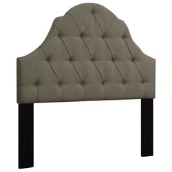 MER-1396 Upholstered Headboard in Taupe Brown