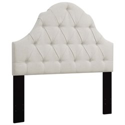 MER-1396 Upholstered Headboard in White 1