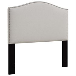 MER-1396 Upholstered Panel Headboard in White 9