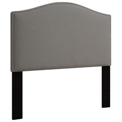 MER-1396 Upholstered Panel Headboard in Ash Gray 1