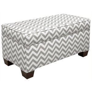 Pemberly Row Storage Bench in Ash and White