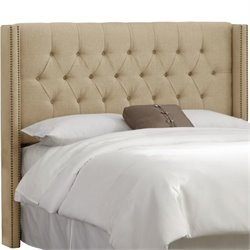 MER-1396 Upholstered Tufted Panel Headboard in Sandstone 1