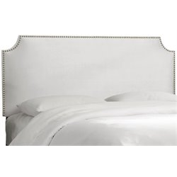 MER-1396 Upholstered Panel Headboard in White 5