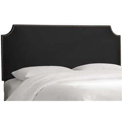 MER-1396 Upholstered Panel Headboard in Black 4