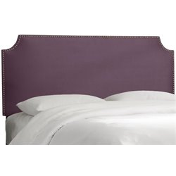 MER-1396 Upholstered Panel Headboard in Purple