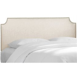 MER-1396 Upholstered Panel Headboard in Talc