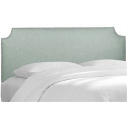 MER-1396 Upholstered Panel Headboard in Swedish Blue