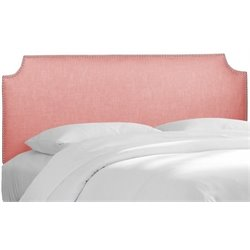 MER-1396 Upholstered Panel Headboard in Petal