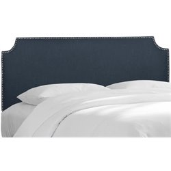 MER-1396 Upholstered Panel Headboard in Navy 3