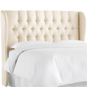 MER-1396 Upholstered Tufted Panel Headboard in Parchment 1