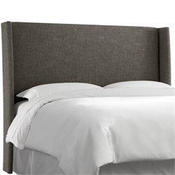 MER-1396 Upholstered Panel Headboard in Charcoal 3