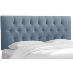MER-1396 Upholstered Tufted Panel Headboard in Ocean