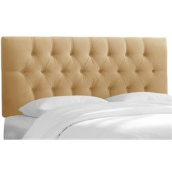 MER-1396 Upholstered Tufted Panel Headboard in Honey