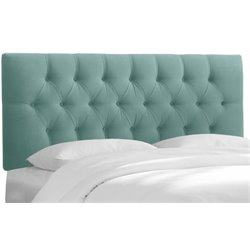 MER-1396 Upholstered Tufted Panel Headboard in Caribbean 1