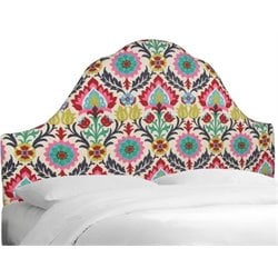 MER-1396 Upholstered Panel Headboard in Flower