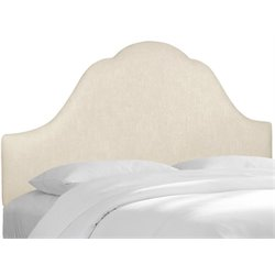 MER-1396 Upholstered Panel Headboard in Talc 2