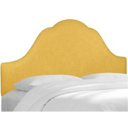 MER-1396 Upholstered Panel Headboard in French Yellow
