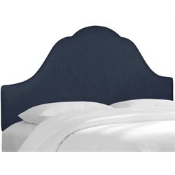 MER-1396 Upholstered Panel Headboard in Navy 6