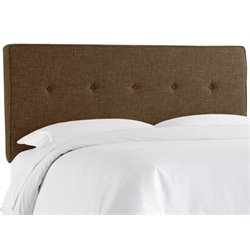 MER-1396 Upholstered Panel Headboard in Espresso