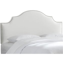 MER-1396 Upholstered Panel Headboard in White 7