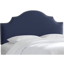 MER-1396 Upholstered Panel Headboard in Navy 8