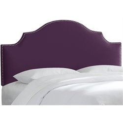 MER-1396 Upholstered Panel Headboard in Aubergine