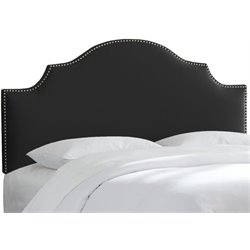 MER-1396 Upholstered Panel Headboard in Black 5