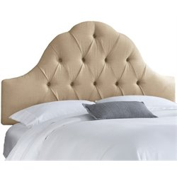 MER-1396 Upholstered Tufted Panel Headboard in Sandstone 2